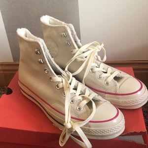 New CONVERSE CHUCK 70 STREET WARMER Leather 39.5